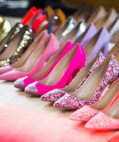Jenna Lyons shows off her AMAZING shoe collection! I want every SINGLE ONE of these heels!!!! #ashleniqapproved