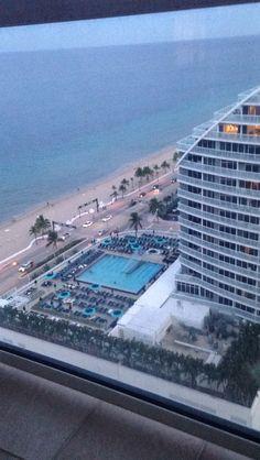 Hilton Ft Lauderdale Beach resort, USA floor 24 jr suite w Ocean view