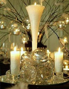 Beautiful for a Christmas wedding centerpiece!