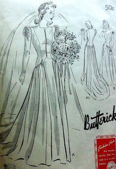 Vintage Wedding Gown Sewing Pattern