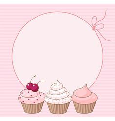 ideas for cupcakes illustration birthday Cupcake Illustration, Logo Doce, Girls Party, Cupcake Card, Cupcake Vector, Diy And Crafts, Paper Crafts, Bakery Logo Design, Birthday Background