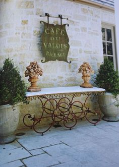♔ French wrought iron baker's table
