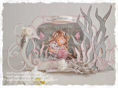 Seahorse card template Sandra's Scrapshop