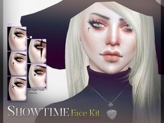 Showtime Face Kit N27 by Pralinesims at TSR via Sims 4 Updates