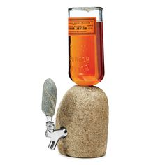 STONE DRINK DISPENSER | Stone, Spigot, Alcohol, natural. | UncommonGoods
