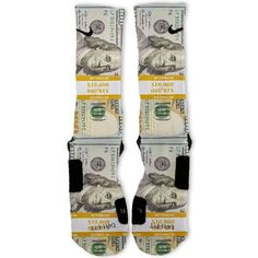 Bands 100 Dollar Bill Benjamins Custom Nike Elite Socks