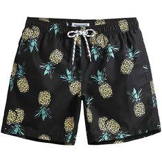 02dfa024e2 MaaMgic Mens Slim Fit Quick Dry Short Anchor Swim Trunks with Mesh Lining |  Trendy Swimwear
