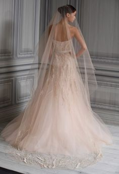 Pale Pink wedding gown