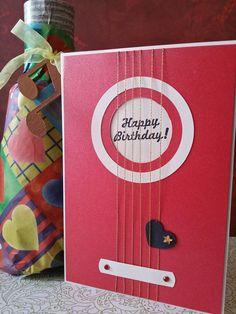 tarjeta cumpleaños guitarra