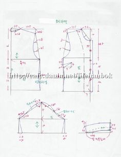Daum 블로그 Clothing Patterns, Sewing Patterns, Medical Uniforms, Sewing Clothes, Pattern Making, Diy And Crafts, Embroidery, Womens Fashion, Fabric