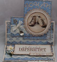 Kortparadis Handmade Håndlaget Scrapping Scrappe Baby Babycard Babykort Korthobby Korthobby.no Dåp Dåpskort Baptism