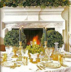 Conexão Décor www.conexaodecor.com Mesa dourada inspiração Downton Abbey