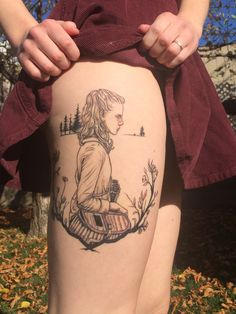 "Suzy from Wes Anderson's ""Moonrise Kingdom"". Done by Annelisa Ochoa @ 27 Tattoo, Salt Lake City, UT. - Imgur"