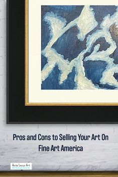One of the biggest pros of selling my art on Fine Art America is that it is easy to set up and free to use. They also have a large selection of artwork matt and framing options. One of the biggest cons is that you must work very hard to be noticed on the site and you need to sell a lot to make any real money.  #artsale #art #artwork #artist #artforsale #contemporaryart #painting #sale #artgallery #abstractart #artistsoninstagram #fineart #artcollector #artoftheday #fineartamerica #artists Social Media Art, Sell My Art, Cool Art, Fun Art, Art Day, Art For Sale, Fine Art America, Contemporary Art, Abstract Art