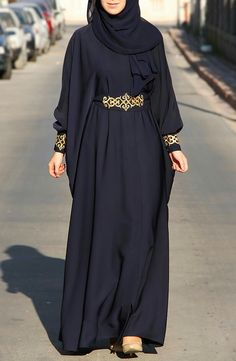 Abaya chic: Top 50 trendy models for summer 2017 hijab tips Abaya Chic, Hijab Chic, Hijab Style Dress, Hijab Outfit, Abaya Style, Islamic Fashion, Muslim Fashion, Niqab Fashion, Fashion Dresses