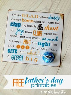 FREE Father's Day Printables!  They were designed for  the kids at our church to give to their dads, so it works for one dad or 100+!!  {simplykierste.com}