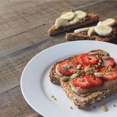 Almond butter toast #breakfastcriminals