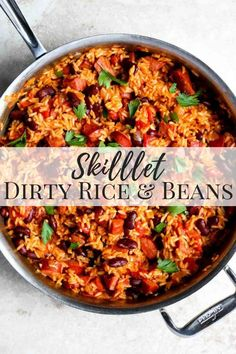A super easy dinner that is made in one pan! This dinner is full of Smoked Beef Sausage, Rice, Tomatoes and Kidney Beans, plus all the warm Cajun & Creole seasonings mixed with onion and garlic. This dinner cooks in under 30 mi Easy Skillet Dinner, Super Easy Dinner, Skillet Dinners, Cajun Recipes, Cooking Recipes, Healthy Recipes, Louisiana Recipes, Vegetarian Rice Recipes, Cooking Icon
