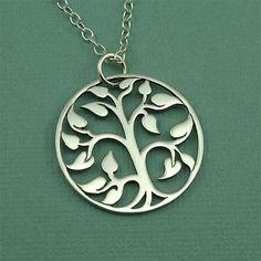 Gran árbol de la vida collar plata esterlina árbol por TheZenMuse