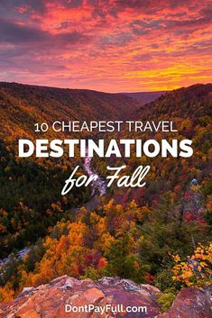 10 Cheapest Travel Destinations for Fall Looking for a travel destination to admire the fall foliage? Here are 10 Cheapest Travel Destinations for Fall! Fall is beautiful, but needs to be explored! Cheap Places To Travel, Ways To Travel, Cheap Travel, Cool Places To Visit, Travel Tips, Budget Travel, Travel Ideas, Travel Packing, Travel Essentials