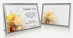 Funeral Programs Templates - Professional and Editable Thank You Card Sample, Sympathy Thank You Cards, Funeral Thank You Cards, Program Template, Templates, Store, Words, Floral, Stencils