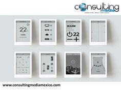 """Sony's latest quirky product to emerge from its First Flight crowdfunding platform is this sleek universal remote. Called Huis—pronounce it """"house""""—the e-ink device is designed to be a fully customizable tool to control your entire home. Arduino, Logitech Speakers, Smart Panel, Electronic Paper, E Ink Display, Sony, Innovation, Universal Remote Control, Apps"""