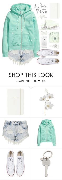 """""""Have a nice day ʕ•ᴥ•ʔ"""" by alexandra-provenzano ❤ liked on Polyvore featuring Kate Spade, Pier 1 Imports, Topshop, H&M, Converse, Fuji and Paul Smith"""