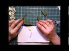 Черемуха заколка из фоамирана - YouTube