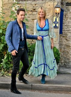 miss moss and hubby in blue