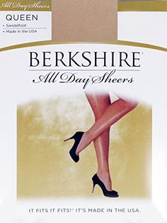 Berkshire Queen All Day Sheer Non-Control Top Pantyhose - Sandalfoot -- More info could be found at the image url.