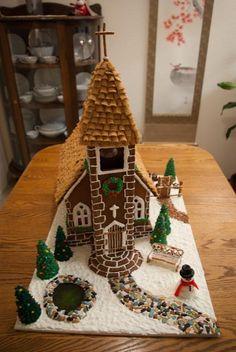 church gingerbread house
