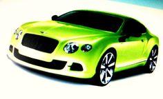 """""""Matchbox Bentley"""" by Dietmar Scherf #car #Bentley #luxury #speed #green #garage #Warhol"""