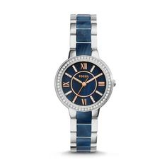It's a maybe. I'm not sure if a watch is really my style yet.   Virginia Stainless Steel and Blue Acetate Watch