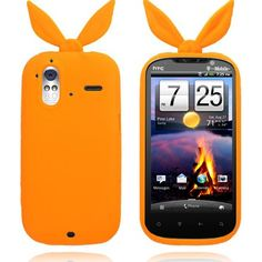 Bunny (Oransje) HTC Amaze 4G Deksel Hot Pink, Bunny, Cover, Amazing, Orange, Silicone Rubber, Pink, Hare, Rabbits