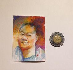 Watercolour portrait on paper Watercolor Portraits, Watercolour, Paper, Painting, Art, Pen And Wash, Art Background, Watercolor Painting, Watercolor