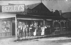 Begley's Grocery, Drapery and Ironmongery Shop at Stockinbingal,New South Wales (year unknown). Shop Fronts, South Wales, Drapery, Old And New, Vintage Shops, Colonial, The Past, Australia, In This Moment