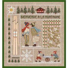 Kit broderie point compté Bienvenue Janvier Le Bonheur des Dames 2650