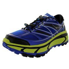 Hoka One One Men's M Mafate Speed Blue/Lime/Black Running Shoe