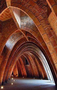 Antoni Gaudí. Desvanes casa Milà. Barcelona. Catalunya.(España) #places
