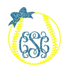 Softball Bow Monogram Iron on, Softball Monogram,  DIY Softball Shirt, Monogram Softball, Glitter Monogram Heat Transfer, Softball Mom Softball Crafts, Softball Bows, Girls Softball, Baseball Mom, Softball Shirt Ideas, Softball Shirts, Sports Shirts, Vinyl Monogram, Monogram Shirts