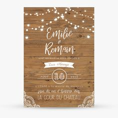 Invitations-wedding-garland-retro-light-wood-Peasant-lace-tavern-rustic Source by besniermagali Marriage Invitation Card, Invitation Cards, Baby Shower Invitations, Wedding Invitations, Cake Games, Light Garland, Garland Wedding, Woodland Party, Holiday Cocktails