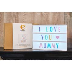 White cinema light box with coloured letters A4 in size and comes with 85 letters and symbols.