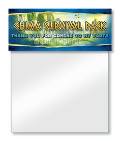 INSTANT DOWNLOAD Legends of Chima Goodie Bag Toppers - Chima Party Favors Gift Bag Topper
