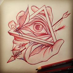 #Tattoos #Tattoo #TattooFlash #AllSeeingEye