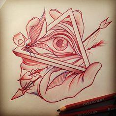 #Tattoos #Tattoo #TattooFlash #AllSeeingEye