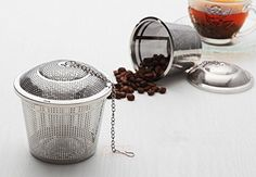 Ohuhu® Stainless Steel Tea Strainer / Tea Filter / Tea Infuser with 4.35 Chain - http://www.teasetsale.com/ohuhu-stainless-steel-tea-strainer-tea-filter-tea-infuser-with-4-35-chain-17/ $ 7.99 Tea Accessories Product Features 100% Rust-proof, which is crafted with high quality 18/8 stainless steel Stylish Design, single cup and a cap with 4.35inch chain Top diameter 2 inch, height 1.89inch, bottom diameter 1.3inch, providing large capacity Three step to use – fil