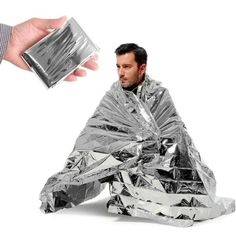 Camping Emergency Blankets - Emergency Silver Mylar Thermal Compact Waterproof Blankets for First Aid Kits Natural Disasters Equipment Retain Body Heat Keeps You Warm Pack of 10 by Super Z Outlet *** More info could be found at the image url. Outdoor Survival, Survival Gear, Hiking Outdoor, Survival Hacks, Apocalypse Survival, Tactical Survival, Homestead Survival, Zombie Apocalypse, Bushcraft