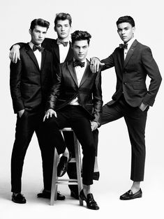 Brandon Gray, Colten Scott, Justin Pinos & Devin Grant in Headliners by Richard Pier Petit for Fashionisto Exclusive