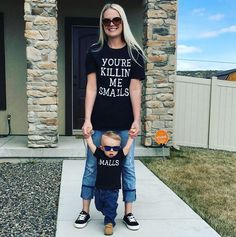 You're Killin' Me Smalls and Smalls T-Shirt Set - Mommy & Me / Daddy & Me
