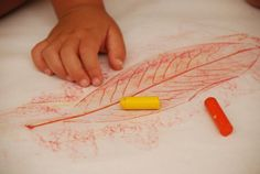 Leaf Rubbing DIY Craft for Kids with some neat variations | via Meri Cherry